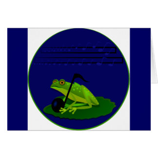 Frog on Lilypad with music notes
