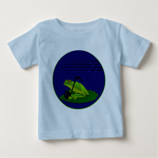 Frog on Lilypad with music notes Baby T-Shirt