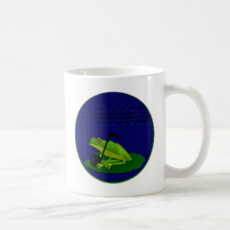 Frog on Lilypad with music notes Coffee Mug