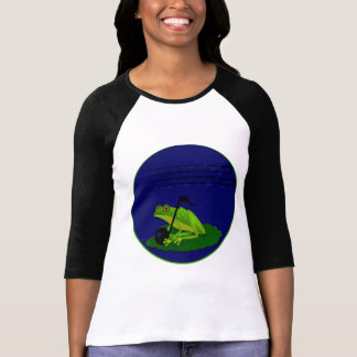 Frog on Lilypad with music notes T-Shirt