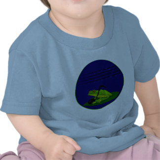 Frog on Lilypad with music notes T-shirts