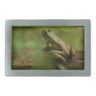 Frog on Log Buckle Rectangular Belt Buckles