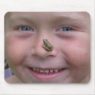 Frog On Nose Mouse Pad