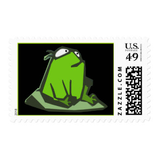 Frog on Rock Postage Stamps
