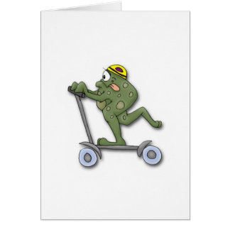 Frog on Scooter Card
