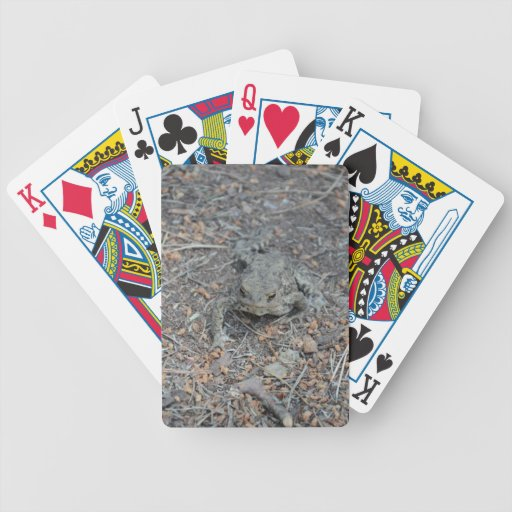 Frog On The Forest Floor Bicycle Playing Cards
