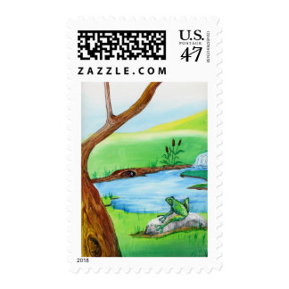 Frog on the Rock Postage