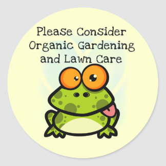 Frog Organic Gardening T-shirts and Gifts Classic Round Sticker
