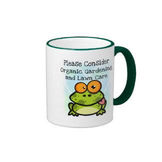 Frog Organic Gardening T-shirts and Gifts Coffee Mugs