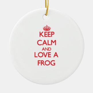 Frog Christmas Tree Ornament