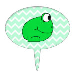 Frog. Oval Cake Picks