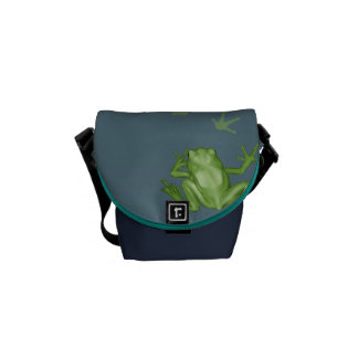 Frog Painting Messenger Bags