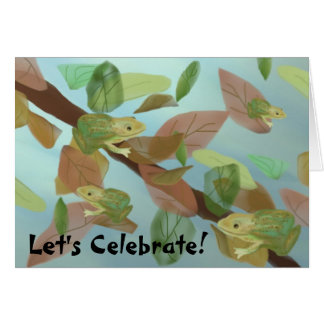 Frog Party Invitation Stationery Note Card