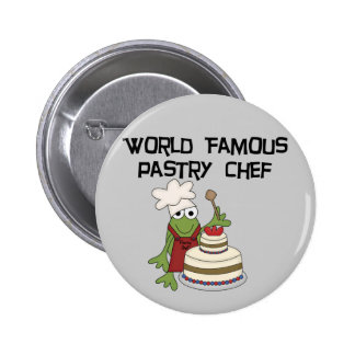 Frog Pastry Chef Tshirts and Gifts Button