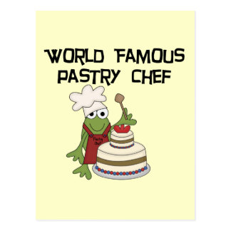 Frog Pastry Chef Tshirts and Gifts Postcard