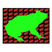 Frog Pattern Art Postcard