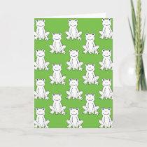 Frog Pattern Greeting Card