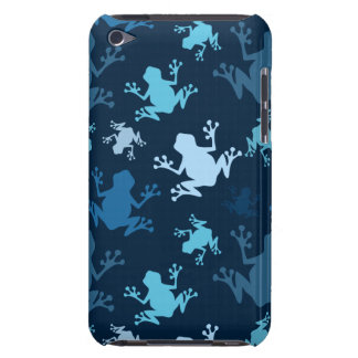 Frog Pattern; Navy, Midnight, Sky, Baby Blue Frogs Barely There iPod Covers