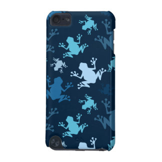Frog Pattern; Navy, Midnight, Sky, Baby Blue Frogs iPod Touch 5G Cases
