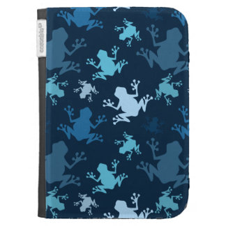 Frog Pattern; Navy, Midnight, Sky, Baby Blue Frogs Case For The Kindle
