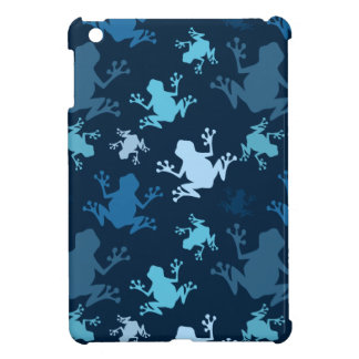 Frog Pattern; Navy, Midnight, Sky, Baby Blue Frogs Case For The iPad Mini