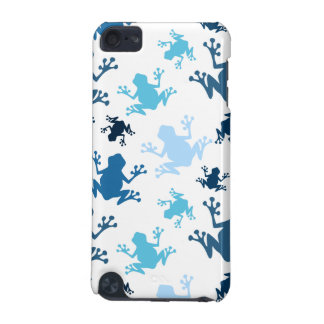 Frog Pattern; Navy, White, Sky, Baby Blue Frogs iPod Touch 5G Case