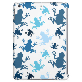 Frog Pattern; Navy, White, Sky, Baby Blue Frogs Case For iPad Air