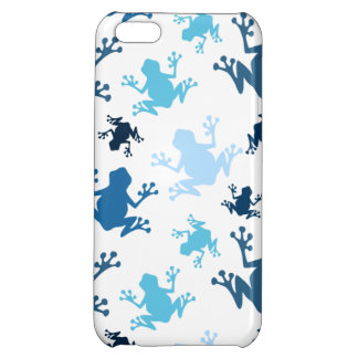 Frog Pattern; Navy, White, Sky, Baby Blue Frogs iPhone 5C Covers