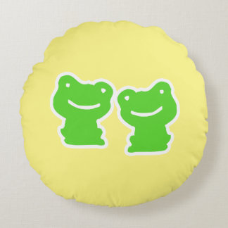 Frog Pattern Round Pillow