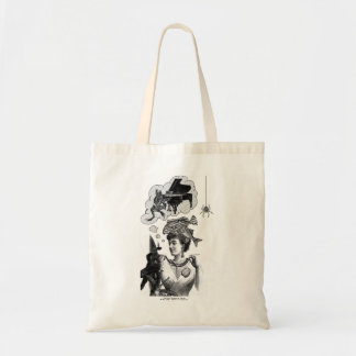 Frog Piano Collage Tote Bag