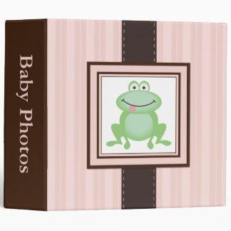 Frog Pink Baby Photos Custom Binder