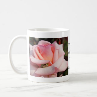 Frog Pink Rose Shakespeare Quote Double Photo Mug