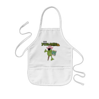 Frog Pirate Girl tshirts and Gifts Kids' Apron