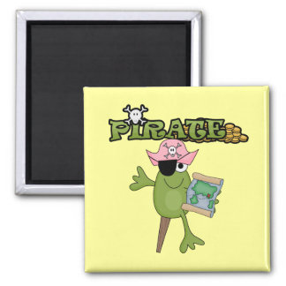 Frog Pirate Girl Tshirts and Gifts Magnet