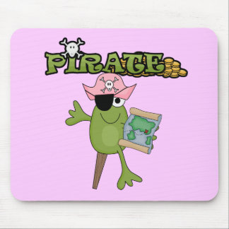 Frog Pirate Girl Tshirts and Gifts Mouse Pad