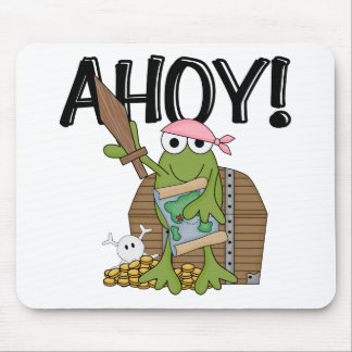 Frog Pirate With Gold - Girl T-shirts and Gifts Mouse Pad