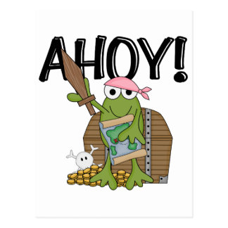 Frog Pirate With Gold - Girl T-shirts and Gifts Postcard