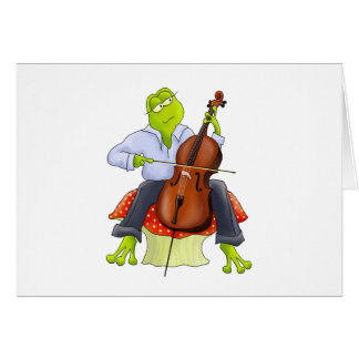 Frog Plays Cello Card