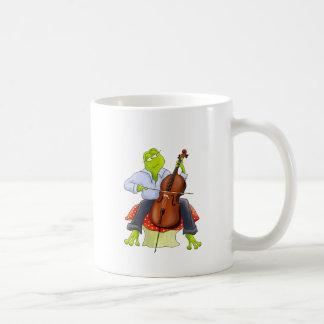 Frog Plays Cello Coffee Mug