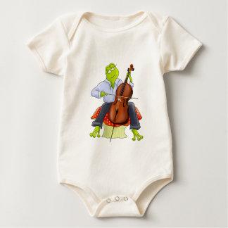 Frog Plays Cello Romper