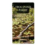 Frog Pond ~ Beer bottle Label Shipping Label