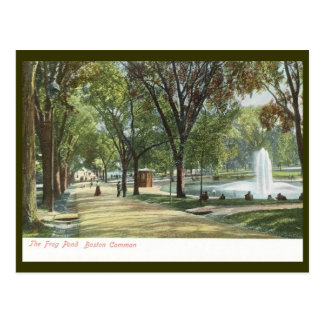 Frog Pond, Boston Common c1910 Vintage Post Card