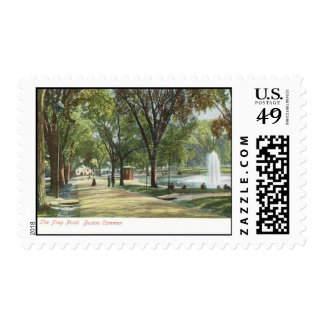 Frog Pond, Boston Common c1910 Vintage Postage