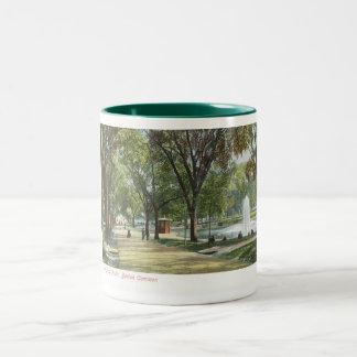 Frog Pond, Boston Common c1910 Vintage Two-Tone Coffee Mug