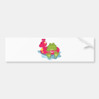 Frog Pool Time Bumper Sticker