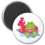 Frog Pool Time Magnets
