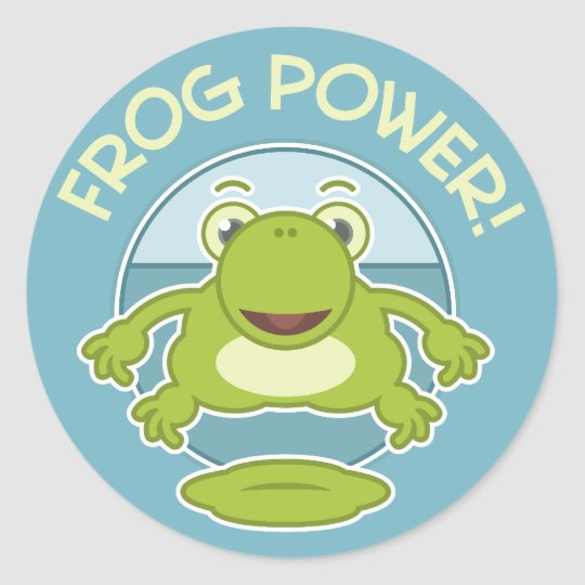 Frog Power Classic Round Sticker
