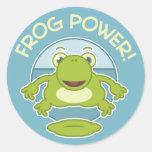 Frog Power Round Sticker
