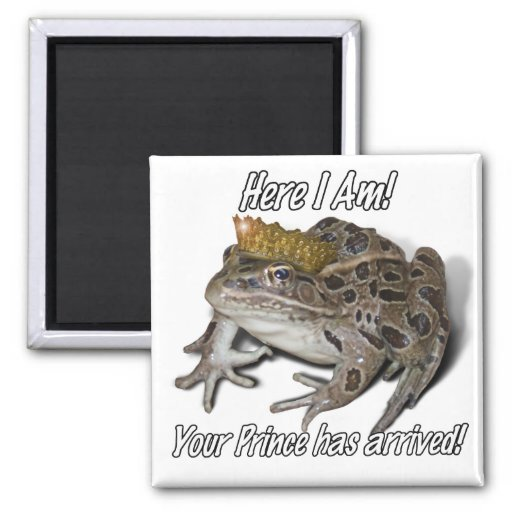 Frog Prince 2 Inch Square Magnet