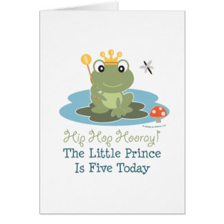 Frog Prince 5th Birthday Greeting Card
